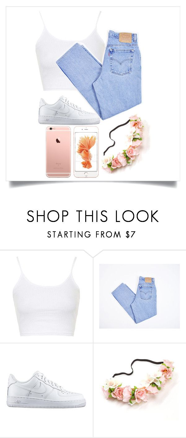 """""""Icy Fingers When I'm Riding ~ Miss Mulatto"""" by amiriwashere ❤ liked on Polyvore featuring Topshop, Levi's and NIKE"""