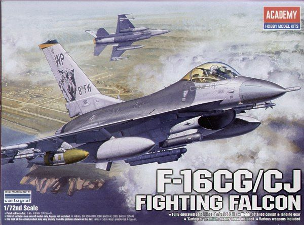 Lockheed Martin F-16CG / F-16CJ Fighting Falcon. Academy, 1/72, injection, No.12415. Price: 18,99 GBP.