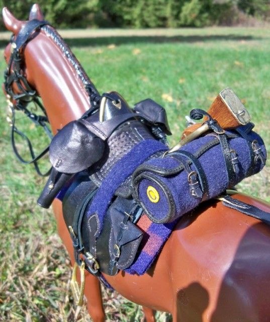 1847 Grimsley Dragoon Saddle by Cesar Dubon - model horse saddle