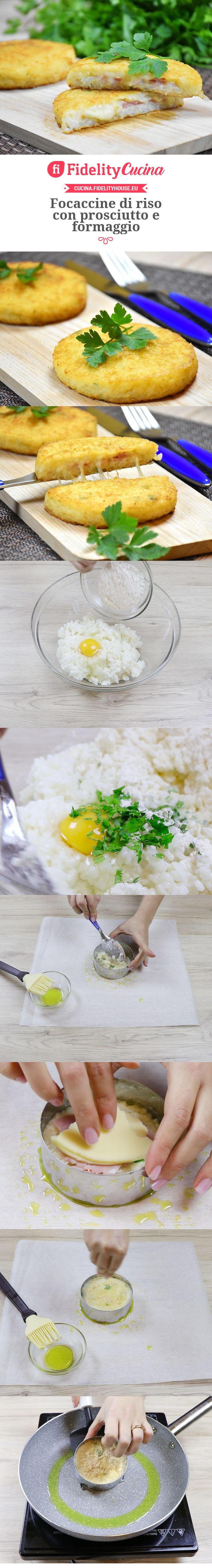 Focaccine di riso con prosciutto e formaggio