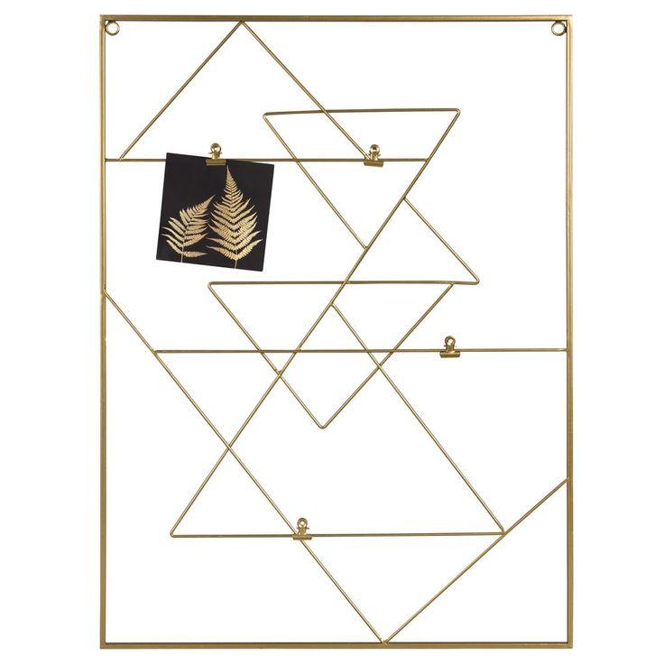 Pêle-mêle en métal doré 52x70 | Maisons du Monde