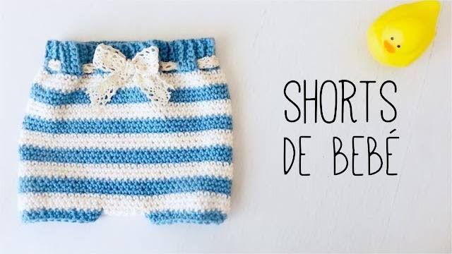 Pantaloncini uncinetto per neonato – Schema