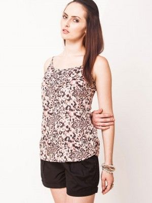 ONLY Animal Print Strappy Top by koovs.com