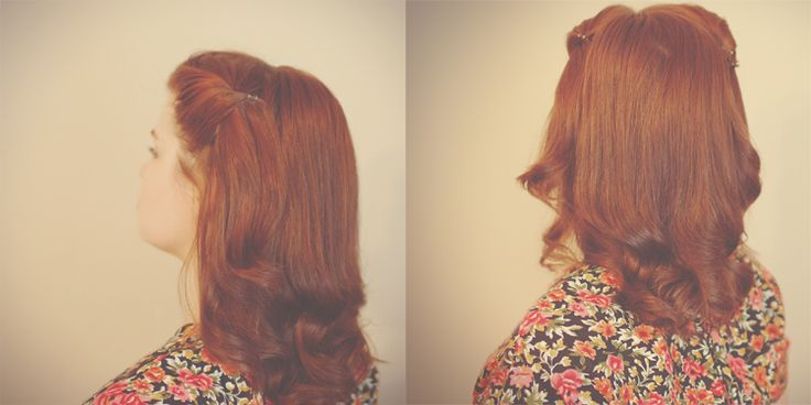 1940′s inspired hair tutorial   the titled blog