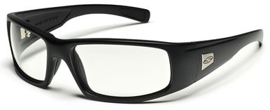 Smith Elite Hideout Tactical Ballistic Safety Glasses with Black Frame and Clear Lens
