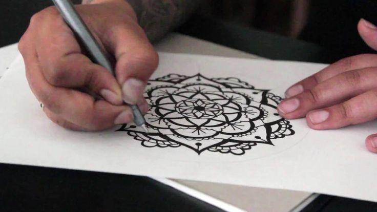 How to draw a centered mandala - Mandala speed painting