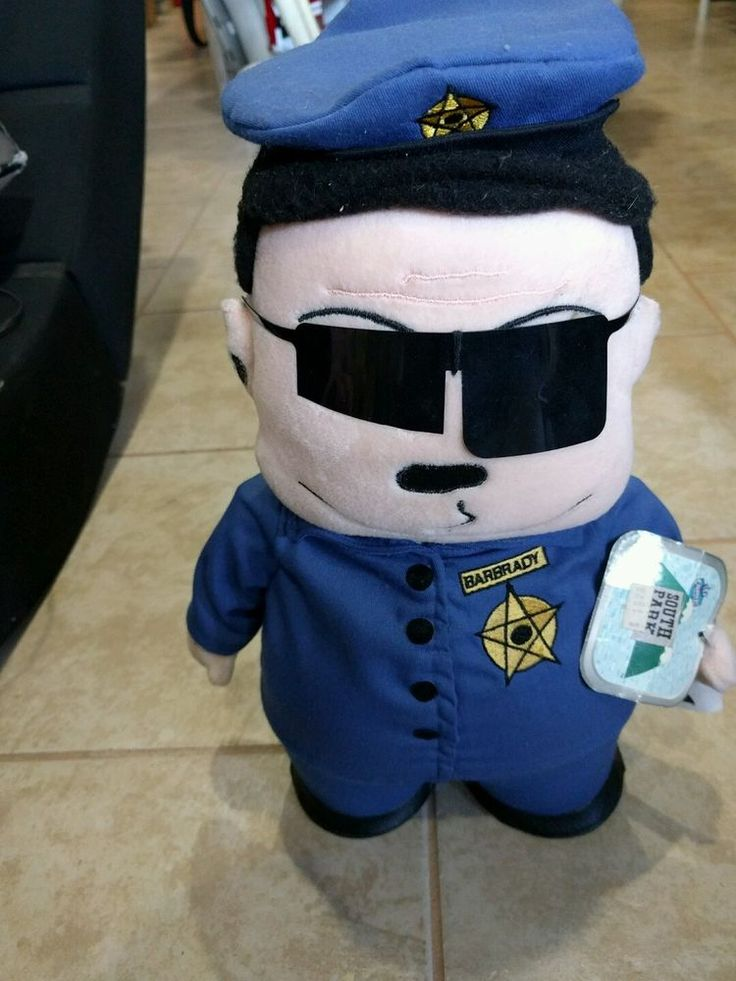 Rare 1998 Comedy Central South Park  Officer Barbarady 13 inch Plush - Clean!  | eBay