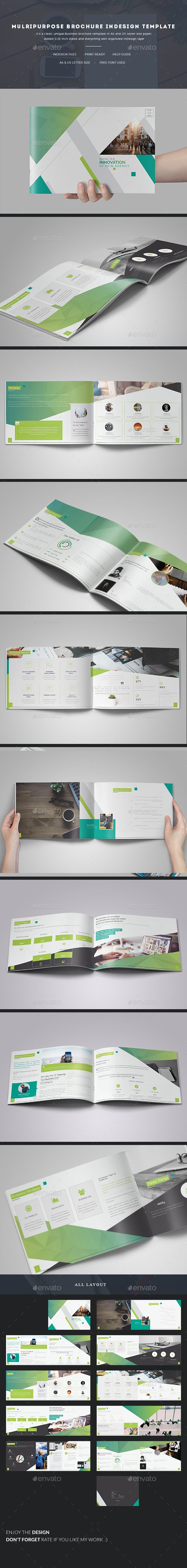 Multipurpose Brochure InDesign Template #inspiration #brochure #business • Download ➝ https://graphicriver.net/item/multipurpose-brochure-indesign-template/18619989?ref=pxcr