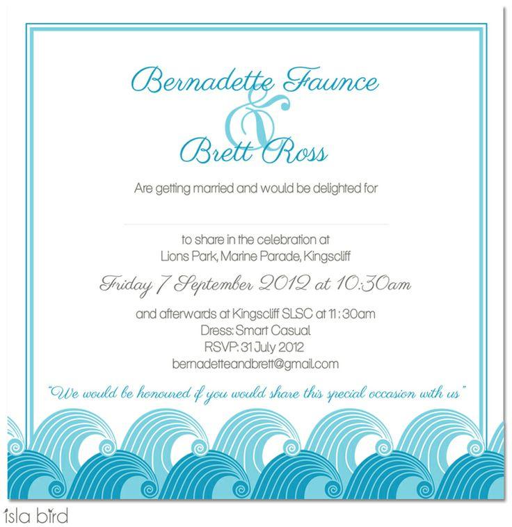 isla bird  - aqau blue beach wedding invitation (http://www.islabird.com/rolling-surf-single-sided-wedding-invitation/)