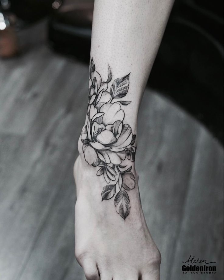 Left Leg Foot Tattoos Girls Ankle Tattoo Ankle Foot Tattoo