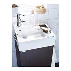 LILLÅNGEN Washbasin cabinet with 1 door - black-brown - IKEA