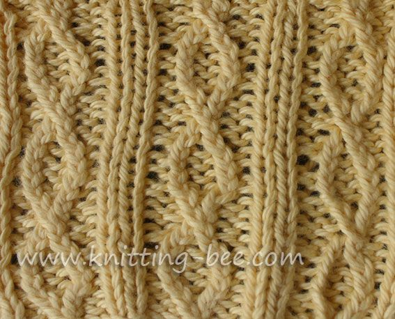 Knitting Rib Stitching : Figure rib knit stitch pattern free knitting stitches