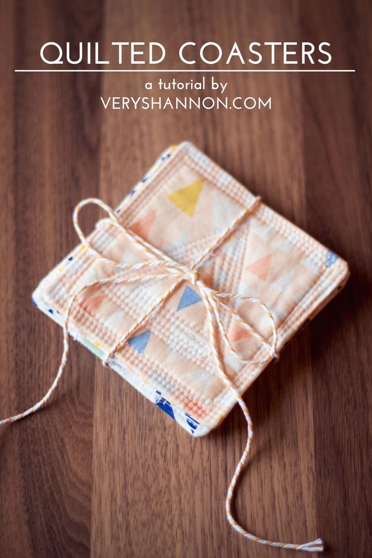 Modern Quilted Coasters Tutorial /// VeryShannon.com #coaster #quilted #sewing #tutorial
