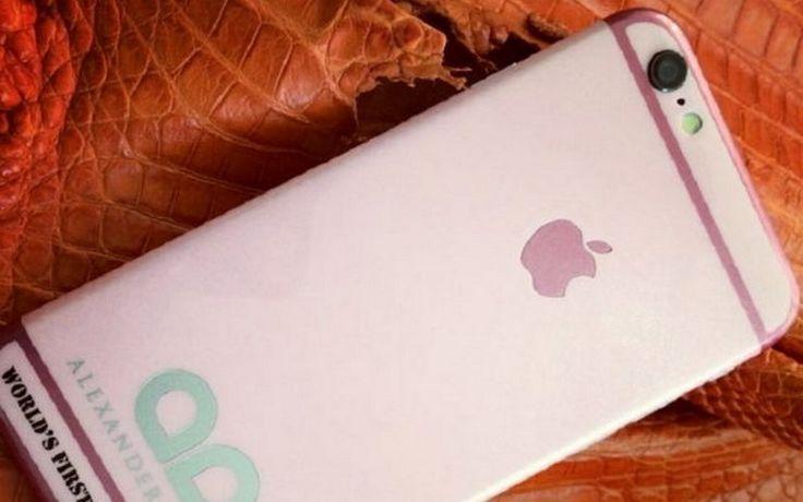 Iphone dengan baluta desain menggunakan bahan emas bukan menjadi salah satu produk Apple yang paling favorite, ternyata Apple dengan warne merah muda atau pink ini adalah salah satunya. dan menurut kabar yang beredar, produk yang satu ini akan dirilis untuk ikut meramaikan hari valentine. Alexander Amosu adalah orang yang mendesainer barang-barang mewah ternama yang kini