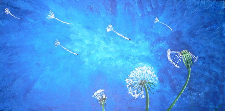 Three Wishes. An original painting by Gina Clark