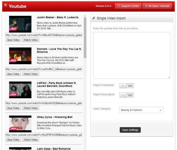 Premiumpress Video Sharing WordPress Theme yotube video importer