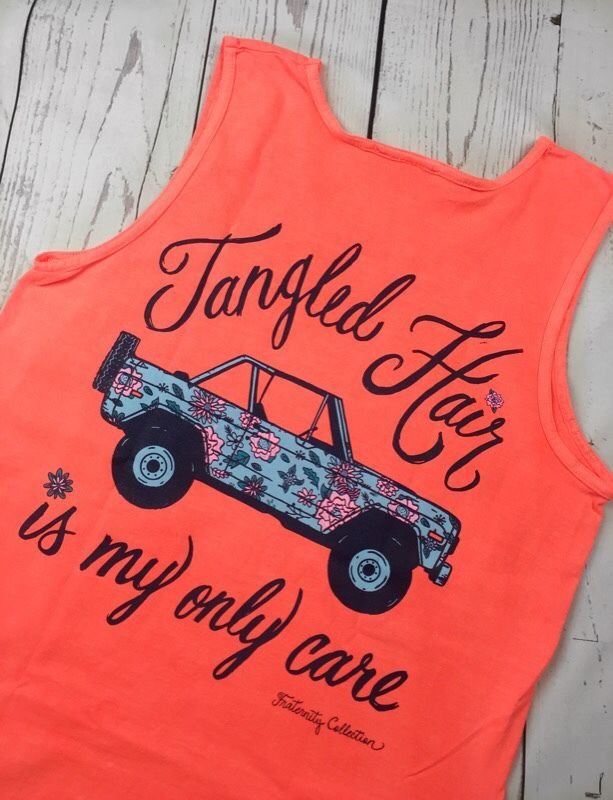 Fraternity Collection - Tangled Hair Don't Care, $35.00 (http://fraternitycollection.com/tangled-hair-dont-care/) #TFC16