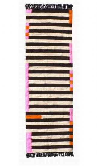 Le Souk Kilim Runner Rug Black White No 1 Textiles And Pretty