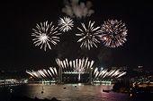 Fonds d'écran - Bordeaux, par Thomas Sanson / Inauguration pont Chaban Delmas, feu d'artifice