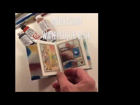 miniature Watercolor Book - YouTube