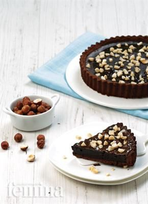 Chocolate Hazelnut Tart Femina