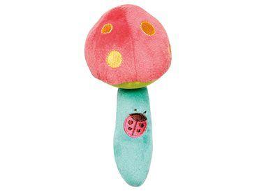 Naast de leuke rammelaars met dieren hebben we nu ook deze super zachte rammelaar in de vorm van een paddenstoel aan het assortiment toegevoegd.