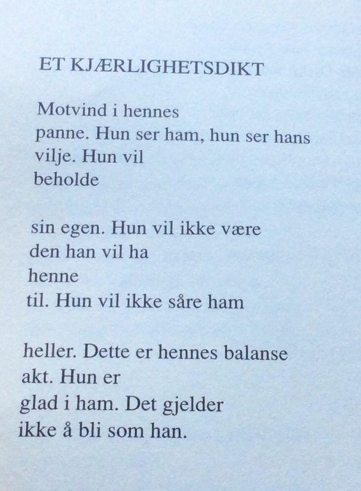 Dikt av Jan Erik Vold