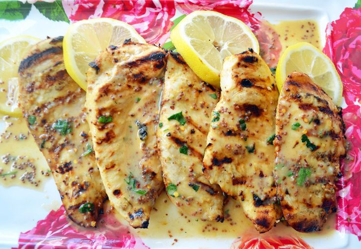 Tangy Lemon Honey Dijon Grilled Chicken made with fresh lemon juice, dijon mustard, garlic,olive oil, parsley, and a touch of honey is the perfect marinade.