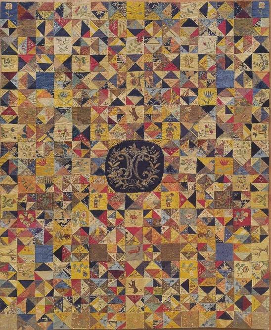 Silk Bed Cover, 1700-1720. Victoria & Albert Museum. London, UK.