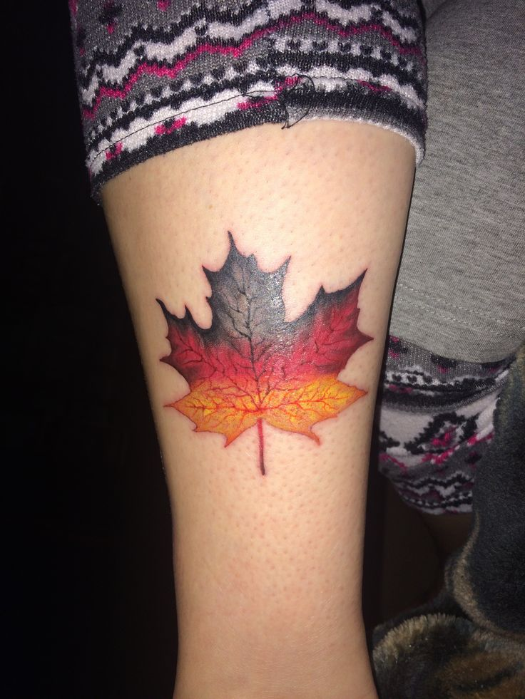 My new tattoo showing my heritage - German Maple Leaf