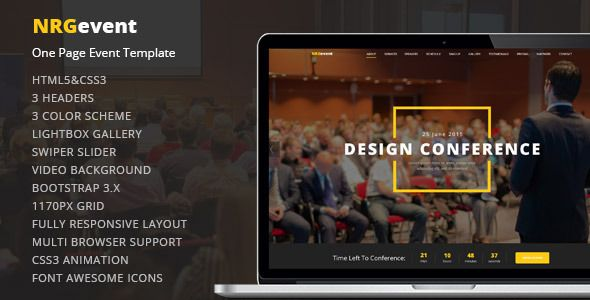 IntroductionNRGevent – Premium Event Template is powerful. You can use for any kind of...