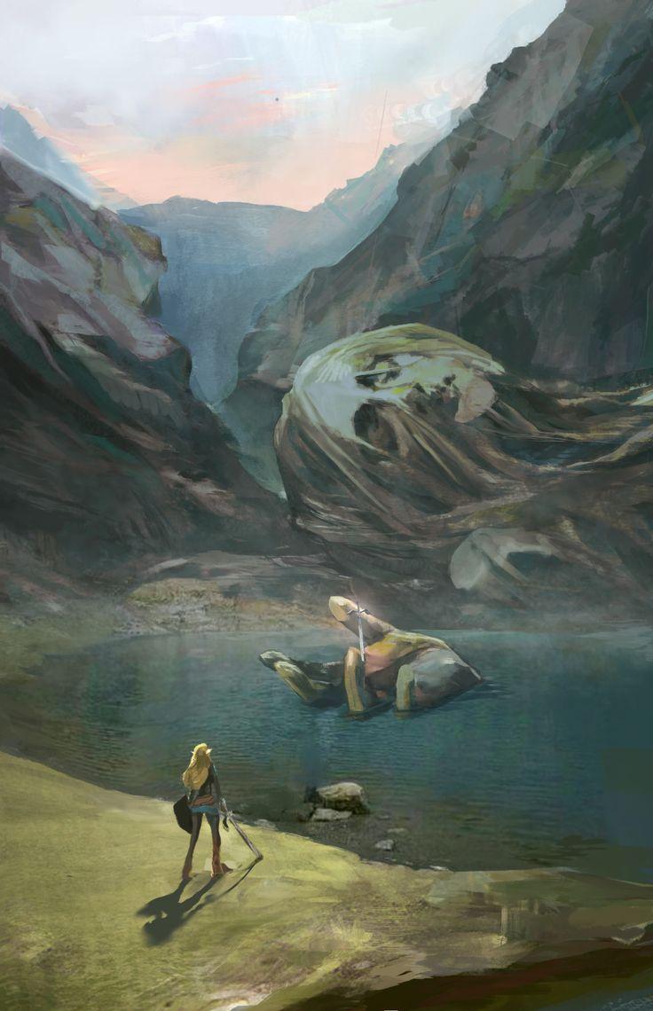ArtStation - Fairy Fountain Study, Evyn Fong