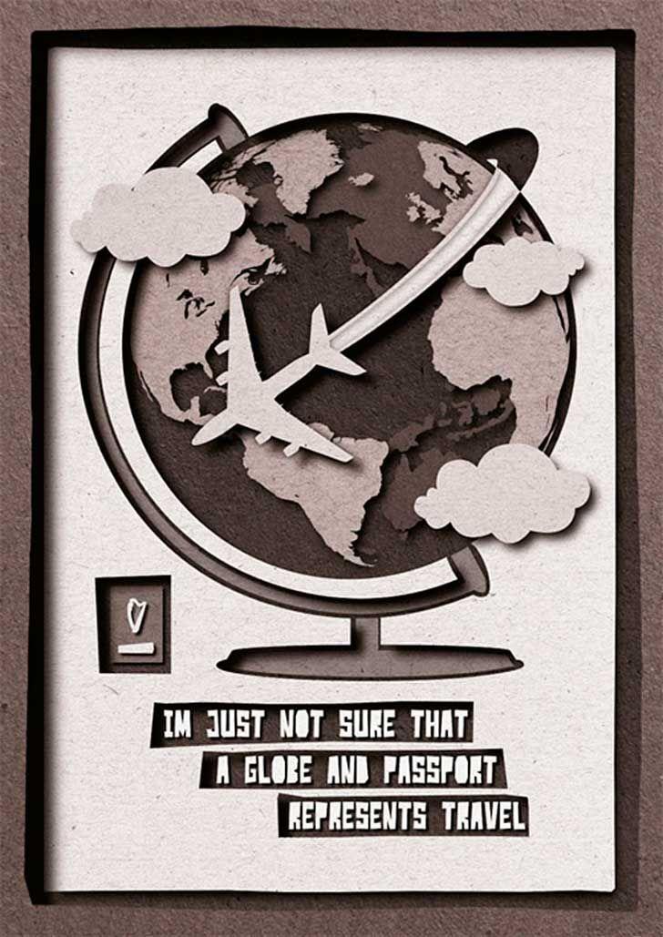 """""""No estoy muy seguro de que un globo terráqueo y un pasaporte representen viajes"""" http://www.upsocl.com/cultura-y-entretencion/los-peores-comentarios-de-clientes-convertidos-en-posters/"""