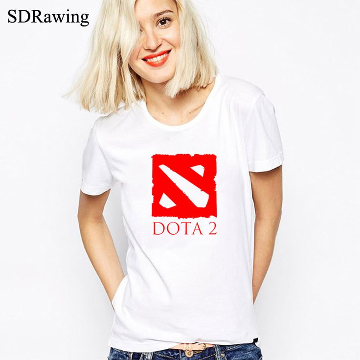 Defense of the Ancients T Shirts DOTA 2 women T-Shirt Multiplayer Game Women tshirt Cotton O Neck Camisetas Free Shipping Tops #Affiliate