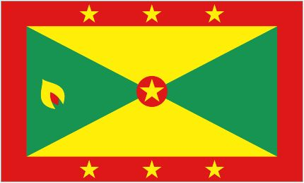 My country's flag, the isle of spice. Grenada!
