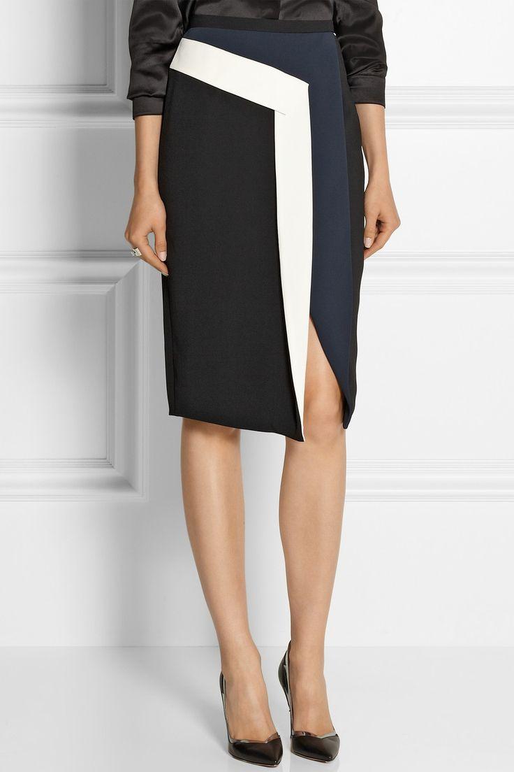Peter Pilotto|Mila color-blocked crepe skirt|NET-A-PORTER.COM