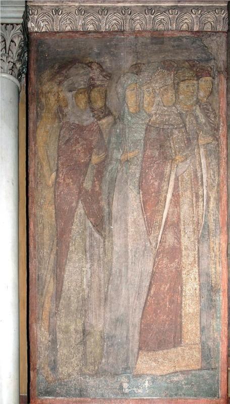 The Last Judgement: Faces of righteous woman, 1408Andrei Rublev - by style - Byzantine