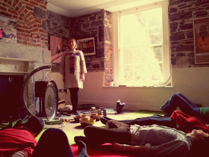 Enjoying a very relaxing sound healing Session with Marta at CFCP!