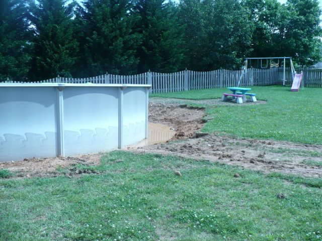 Above Ground Pool Landscape Designs | Landscaping & Design: landscaping around pool, water problems around ...