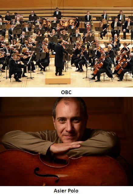 Concert de l'Orquestra Simfònica de Barcelona i Nacional de Catalunya (OBC), amb Asier Polo (violoncel). L'Auditori (Barcelona). 28, 29 i 30 de novembre 2014: