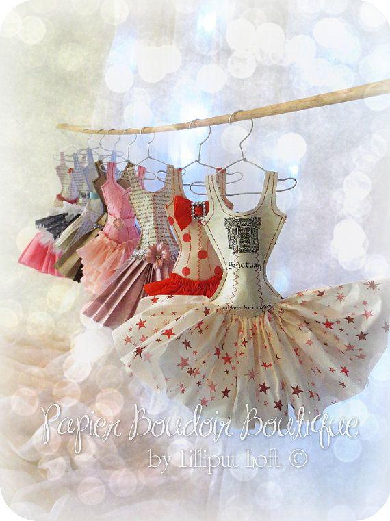 little paper dresses by Lilliput Loft