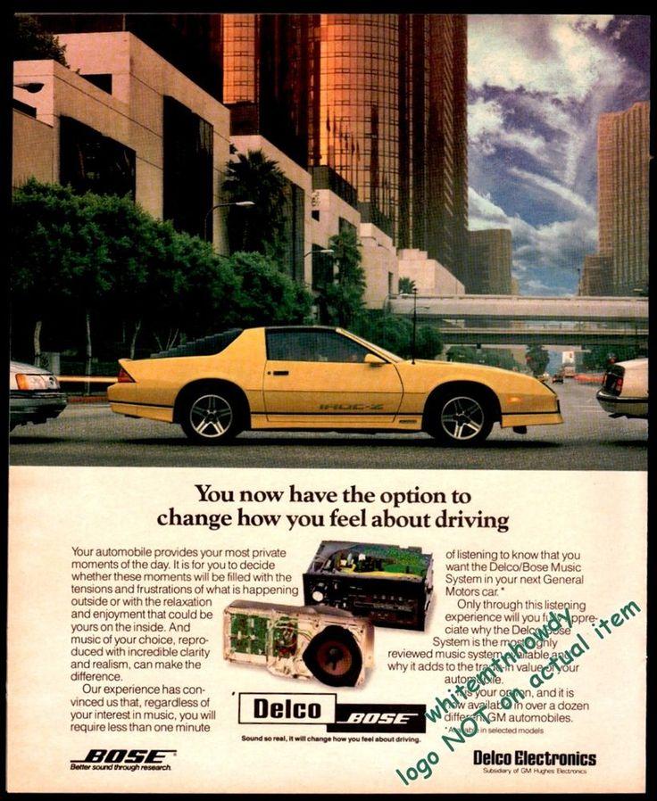 1987 Chevrolet CAMARO Iroc Z Yellow Classic Eighties Car Delco Bose AD