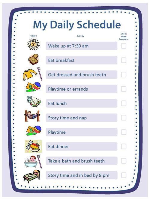 free blank templates for daily schedule  chore chart