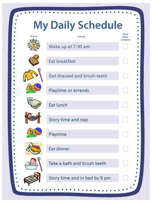 25+ melhores ideias de Daily schedule for kids no Pinterest - daily routine chart template