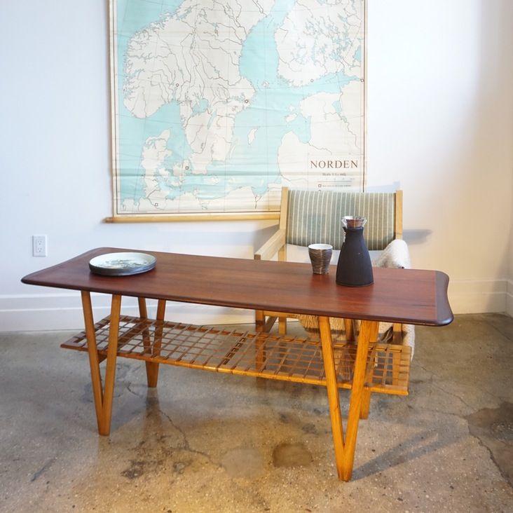 Original Danish Teak coffee table —