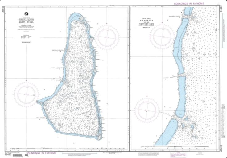 Ailuk Atoll, Marshall Islands Nautical Chart (81612) by National Geospatial-Intelligence Agency