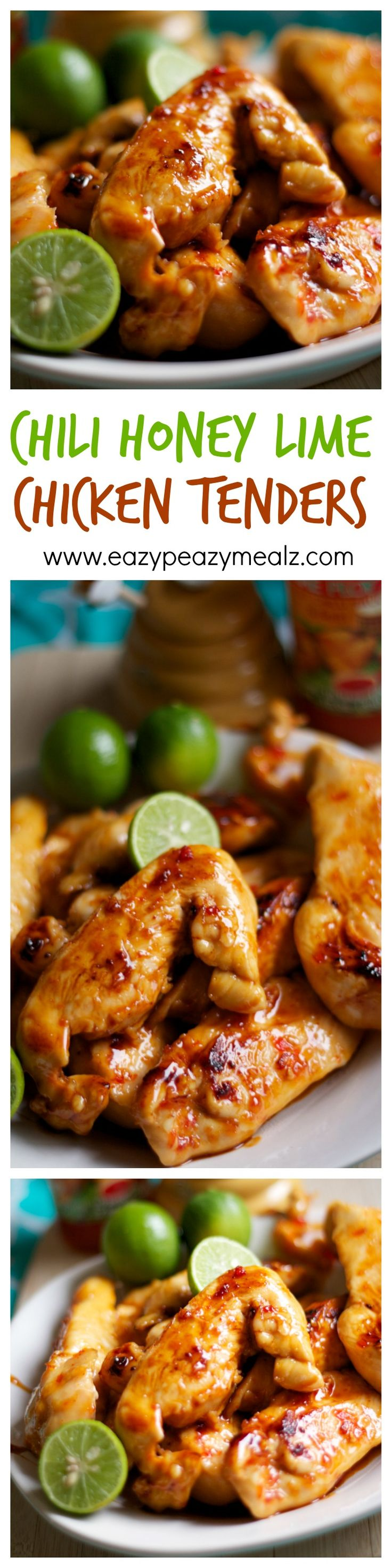 Chili Honey Lime Chicken Tenders -- yum! The perfect way to use chicken for weeknight meals! http://www.eazypeazymealz.com/chili-honey-lime-chicken-tenders-2/
