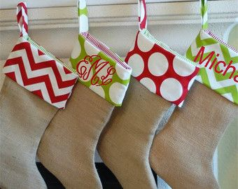 SALE Christmas Stocking Christmas Stockings by fourbugsinarug