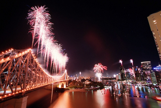 The Brisbane River comes alive every year with River Fire #bneriver