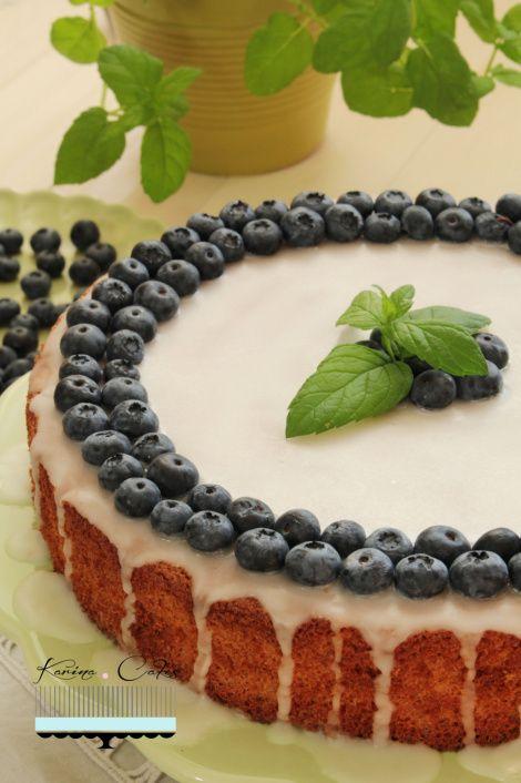 Mandľová torta s citrónovou polevou
